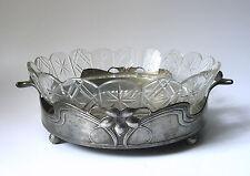 """Stile giovanile GUSCIO cristallo in stagno con raffinata decoro di """"orivit"""" del 1900"""