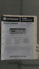 Hitachi d-90s service manual original repair book stereo tape deck player