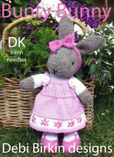 BUNNY RABBIT toy knitting pattern animal teddy