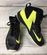 Nike Youth Team Hustle D 7 Black Neon Yellow Basketball Shoe 747998-002 Size 5Y