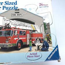 Ravensburger puzzle 24 Pieces Supersized 3+ Firetruck Kids Dog Men Scene Hose