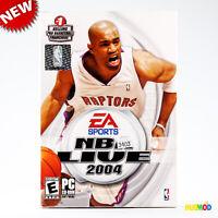 NEW EA Sports NBA LIVE 2004 Pro Basketball PC Game Software