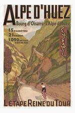 A3 Size -ALPES D'HUEZ France Vintage Tour De France travel / railway  POSTER