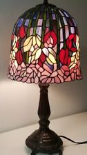 Tiffany Style Lamp Stained Glass Bell Dome Shade FLORAL GORGEOUS