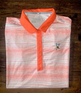 Women's Nike Golf Tour Performance Polo Sz M Winged Foot Golf Course Logo Orange
