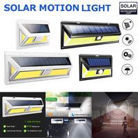 180 COB LED Outdoor Solar Powered Light Motion Sensor Security Wall Lights