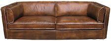DIEGO, Ledersofa 3 Sitzer braun vintage modern, Couch antik Leder Matz Möbel