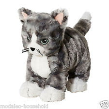 IKEA LILLEPLUTT GRAY WHITE CUDDLY CAT CUDDLY SOFT TOY KITTEN TEDDY BY UK-B786