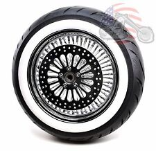 16 x3.5 48 King Fat Spoke Chrome Rear Wheel Avon Tire Package Harley Touring WWW