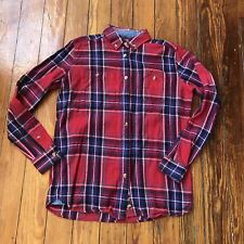 Penfield Trailwear Red Tartan Plaid Cotton Flannel Shirt Women's Small