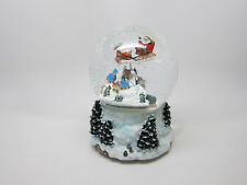 Raz Glass Waterball Snow Globe Music Box Plays Santa Clause coming to town