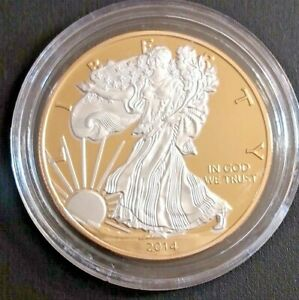 2014 American Eagle Coin Gold and Silver Plated FREE SHIPPING to Canada and US