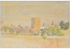 CATHARINE HEYERDAHL NORWEGEN 1861–1952) »ALTE STADTMAUER« VISBY GOTLAND 33X43