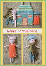 Miss moustache Playhouse-Sewing Craft Pattern-feutre poupée de chiffon Cat House