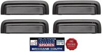 HOLDEN COMMODORE VB VC VH VK VL 4 X OUTER DOOR HANDLES FRONT AND REAR BLACK