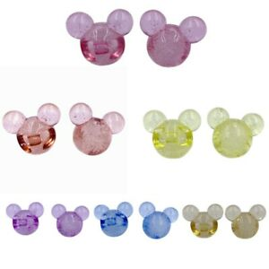 10Pcs Transpakent Mickey Mouse Style Shaped Acrylic Beads For DIY Jewelry Making