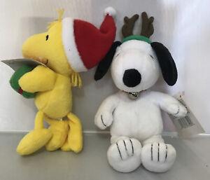 "Hallmark Peanuts Christmas ~ SNOOPY & WOODSTOCK Plush ~ 10"" New With Tags"