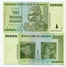 Zimbabwe 10 Trillion Dollars 2008 Circulated AA Part of 100 Trillion Series