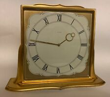 Vintage Birks Swiss large desk clock gilt brass case 15j
