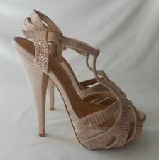 ATMOSPHERE faux suede with diamante very high heel platform strappy size 6 NEW