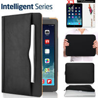 Apple iPad Pro 12.9 Inch Leather Case 2017 SMART COVER+SLIM SLEEVE BAG+HD FILMS