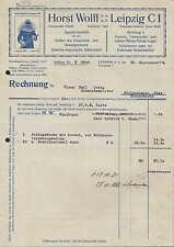 LEIPZIG, Rechnung 1934, Artikel des Feuerlösch- u. Rettungswesens H. Wolff GmbH