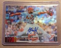 JUNIOR FERNANDEZ 2020 Topps Stadium Club Chrome Auto Refractor RC.