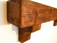 RECLAIMED STYLE BEAM mantle. Distressed Mantle Piece With Corbels