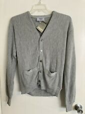 NEW Vintage Charming Forge Men's V-Neck Sweater Cardigan Made In The USA Sz M #T
