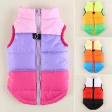 Pet Dog Clothes Padded Waistcoat Coat Puppy Zip Winter Warm Puffer Jacket Vest