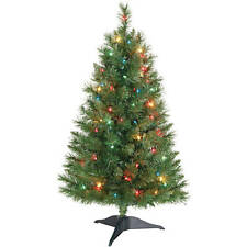 Holiday Time WINSTON Pine 3 Ft Pre-lit Christmas Tree with Multi Color Lights