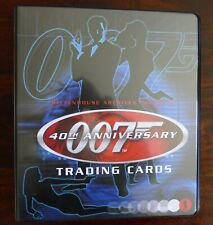 JAMES BOND TRADING CARDS T40TH ANNIVERSARY BASE SET WITH CHASE SETS & BINDER