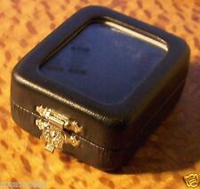 JEWELRY BOXES  BLACK LEATHERETTE GLASS TOP BLACK OR WHITE INSERT