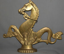 VINTAGE HAND MADE METAL BRASS PLATED HORSE STATUETTE
