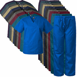 2-PACK Medgear Scrubs Set for Men and Women Medical Uniform