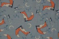 Jersey Hilco Winter-Fox Fuchs 50 x 150 cm Nähen Stoff