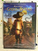 EL GATO CON BOTAS DVD NUEVO ANTONIO BANDERAS DREAMWORKS ESPAÑOL INGLES CATALAN