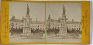 France, Dijon, la Statue de Saint Bernard Vintage stereo card, Q.V., Phot., La