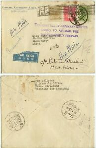 c1925 Pres Cleveland ship Japan roller xcl - Shanghai China forward Hankow cover