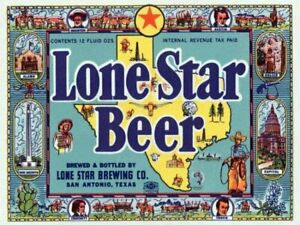 Lone Star Beer by Vintage Booze Labels Texas Canvas Giclee Art Print 16x 22 🍺🍺