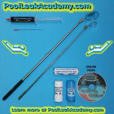 Swimming Pool Leak Detection Dye Test Syringe KIT with underwater repair epoxy