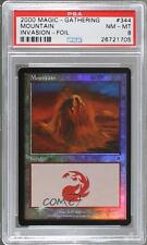 2000 Magic: The Gathering - Invasion #344 Mountain PSA 8 Magic Card k5c