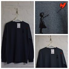 Actual Fact Wu Tang Clan x Banksy Street Art Dark Heather Long Sleeve T-shirt