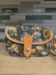 Vintage Dooney & Bourke New Without Tags Bumble Bee Mini Clutch Purse Bag