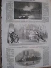 Cuchillo De Lanzar actuar en varias Drury Lane Teatro Londres 1854 antiguos impresión