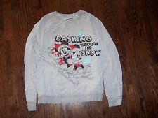 New listing Disney gray Mickey & Minnie Mouse Xl juniors' sweatshirt top Cute!