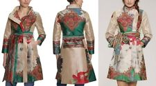 NWT NEW DESIGUAL Coat Jacket Long 40 LARGE Asian Embroidered Lined *RARE*