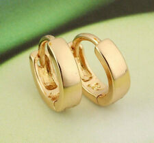 Hoops Earrings Birthday Party Gift Elegant Gold Colour Small Baby Girls