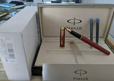 RARE & NEW PARKER SONNET RED INTENSE GT FOUNTAIN PEN  STYLO PLUME 75 61 DUOFOLD