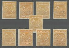 Brazil 1889 news paper stamps compleet set